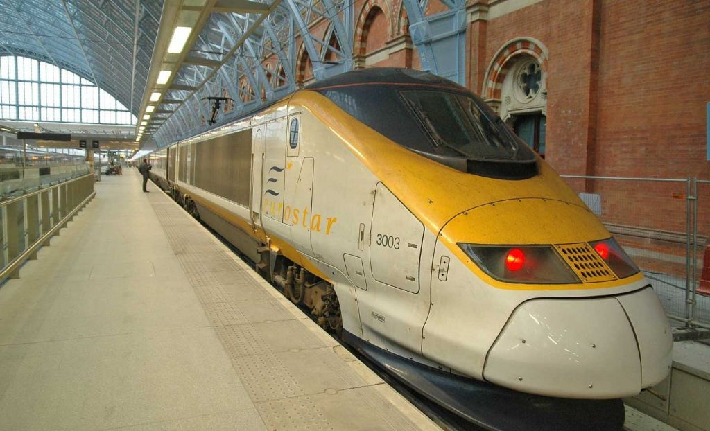 Europe day trips from London - Shows Eurostar train
