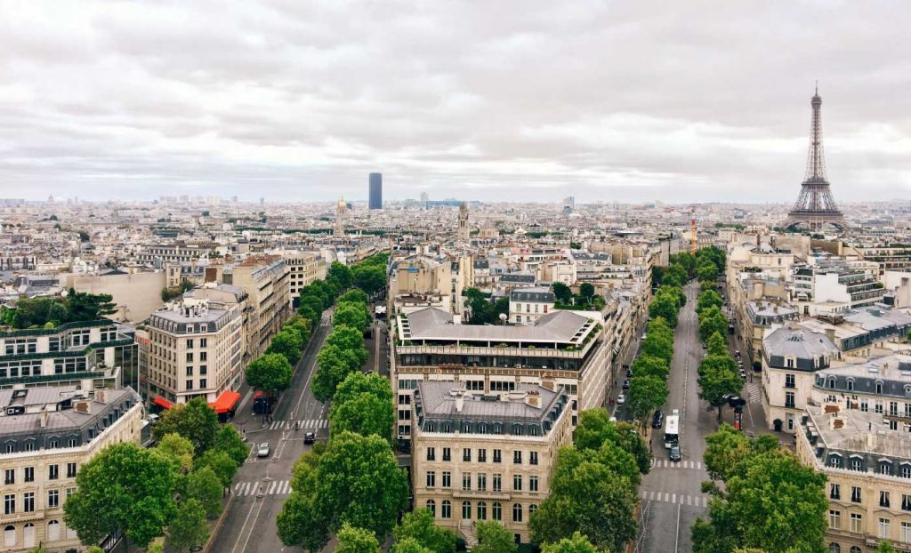 Europe day trips from London - Shows Paris from above