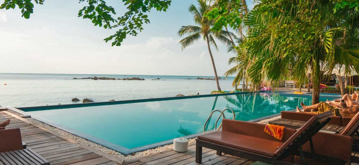 The best all inclusive holiday destinations - Shows infinity pool overlooking the sea