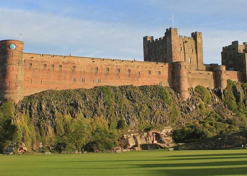 Cheap places to visit in the UK - Shows Bamburgh Castle
