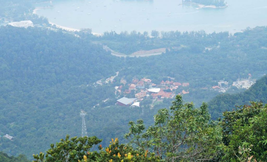 A view from the top of Gunung Raya mountain