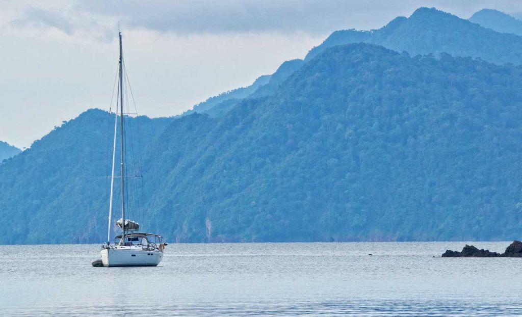 The best things to do in Langkawi - Yacht sailing alongside a forest