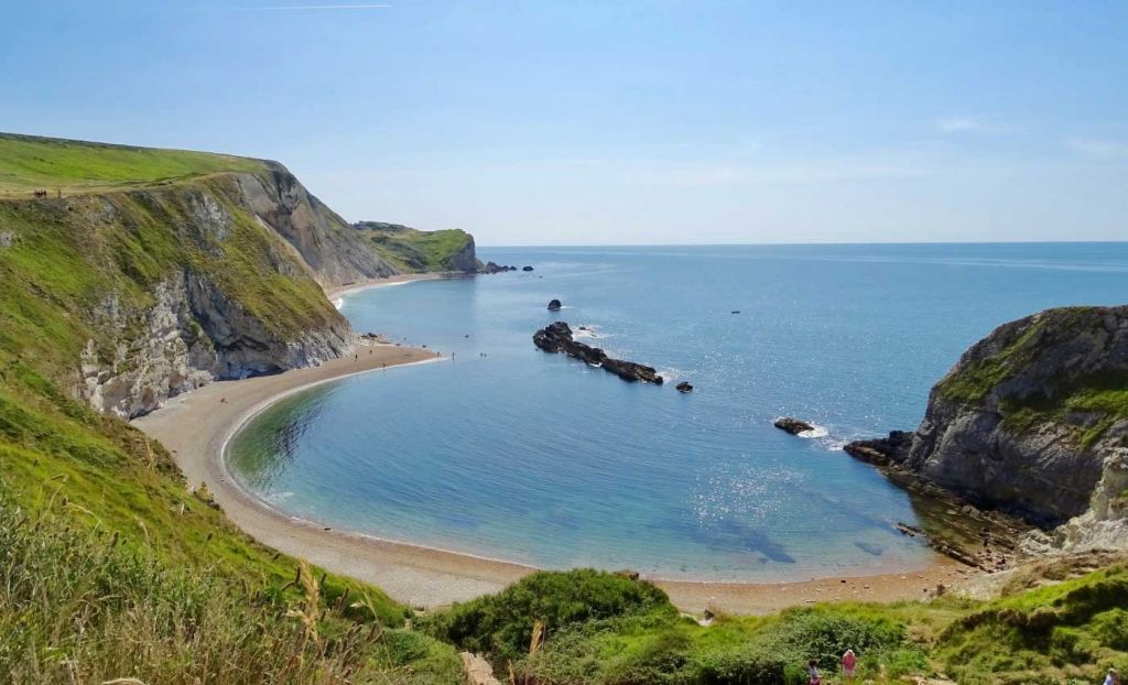 A panoramic view of the Jurassic Coast