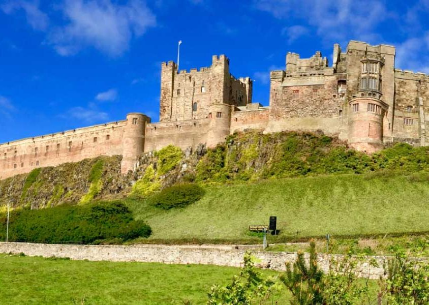 3 week UK itinerary - Shows majestic castle near Newcastle