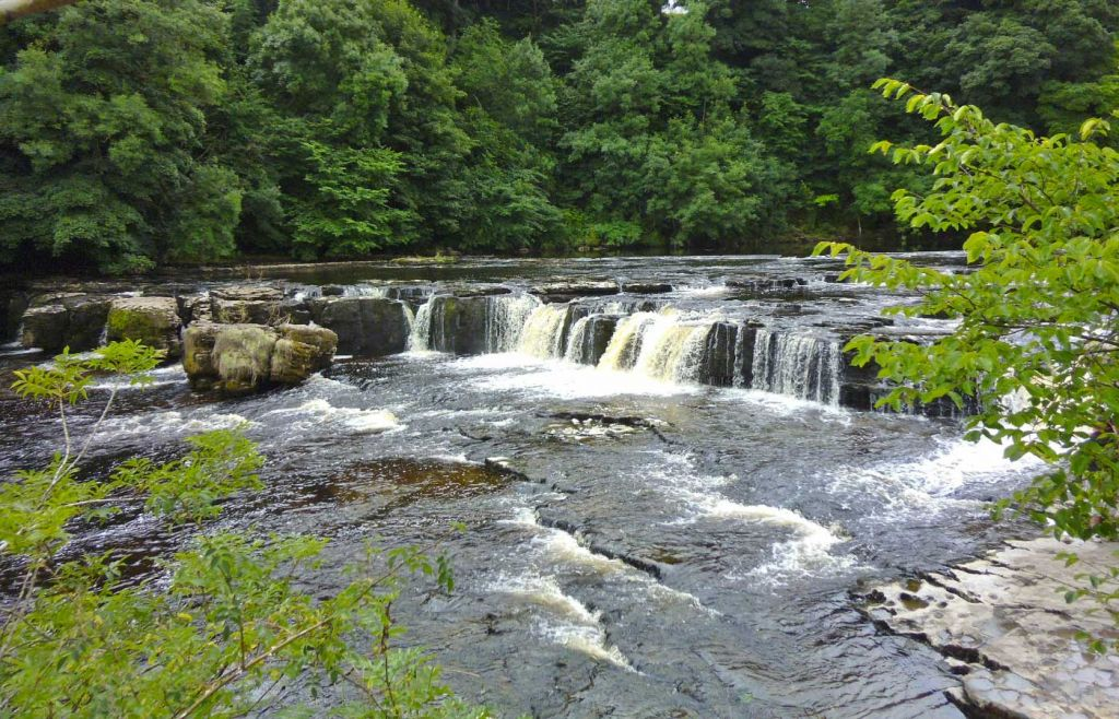 Shows Bolton Castle and Aysgarth Falls