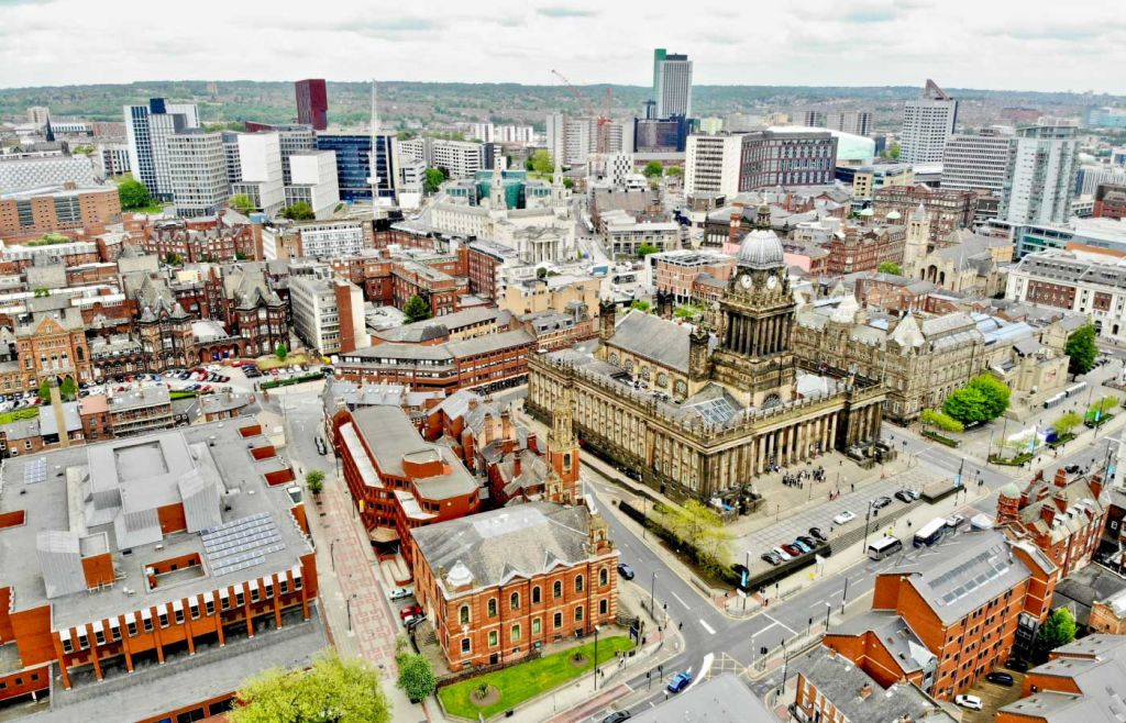 Leeds City Centre from above