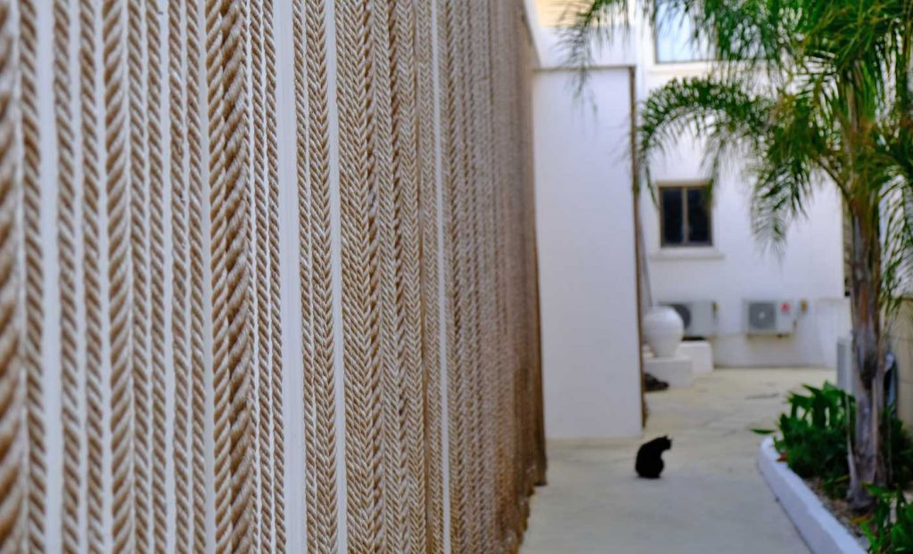The King Jason Paphos Hotel review - Shows a cool corner of the hotel