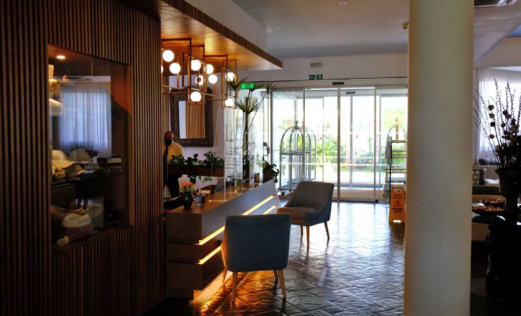 The King Jason Paphos Hotel review - Reception area