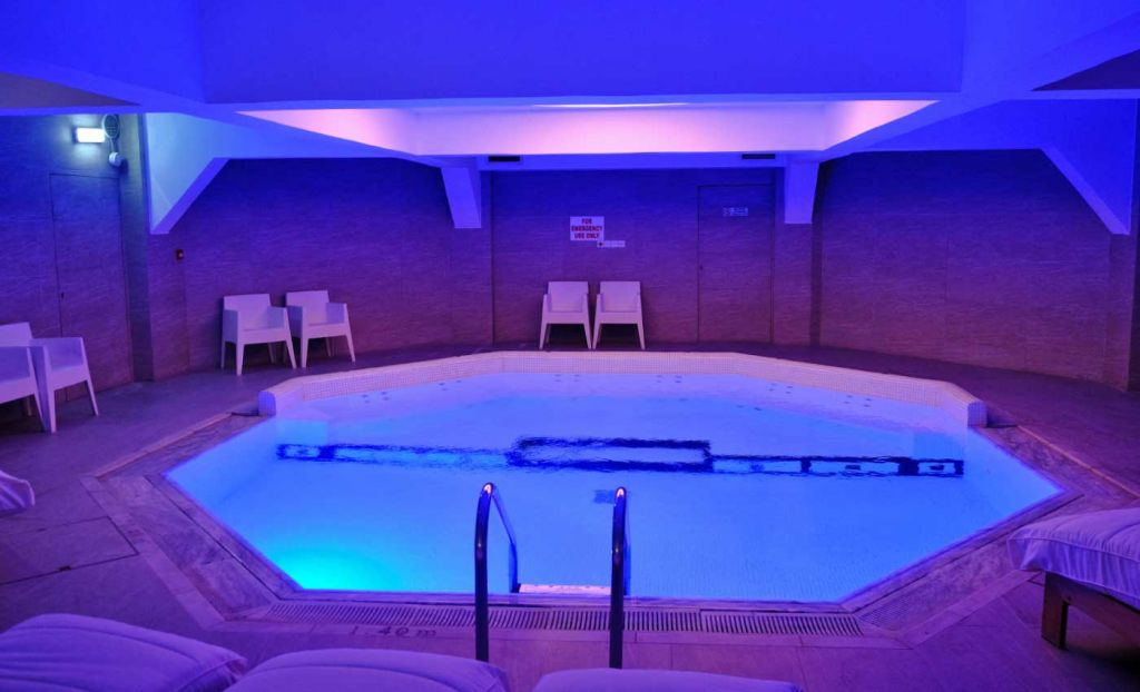 Shows the Sana indoor pool