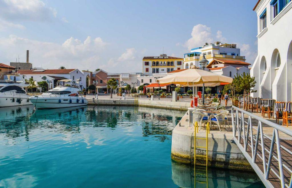 Scenic view of Limassol marina