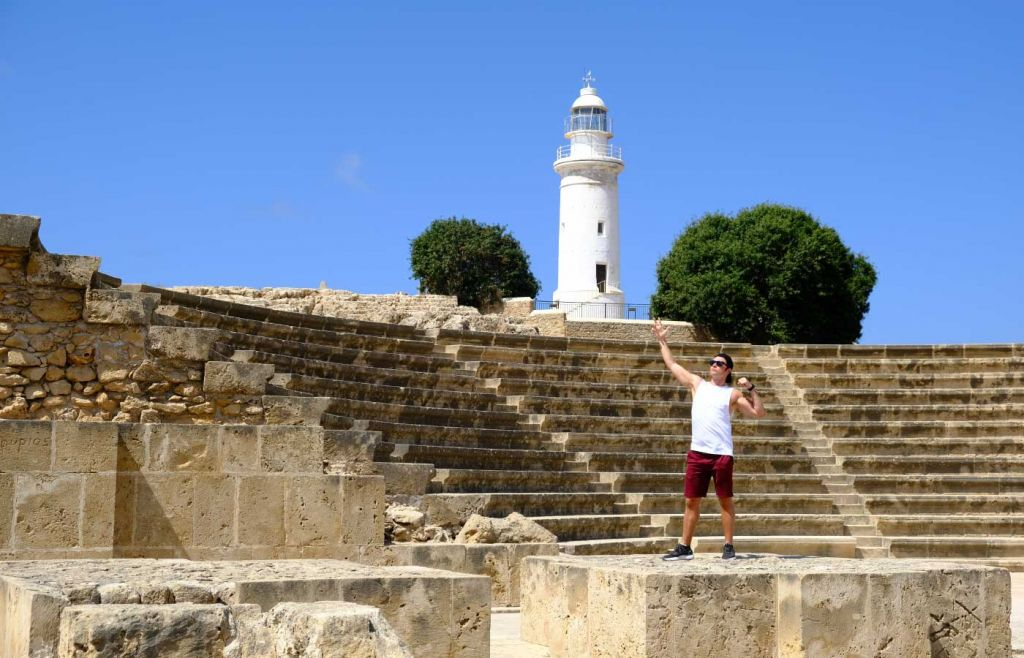 Things to do in Paphos - Ancient theatre with lighthouse