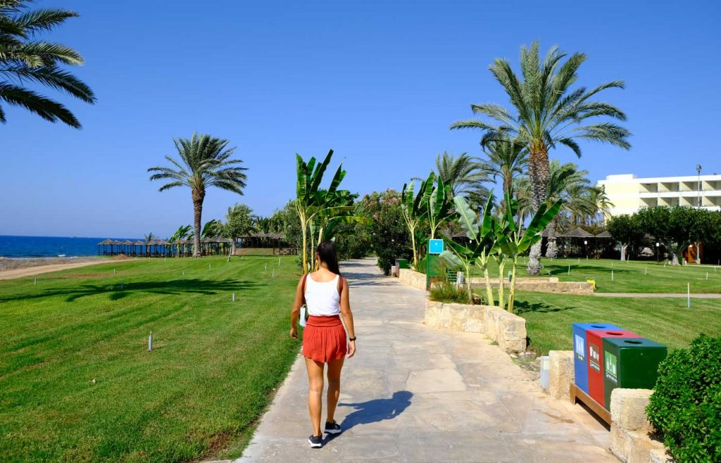 Picturesque promenade in Paphos