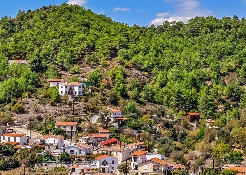 Troodos Mountains road trip itinerary - Village on a mountain-side