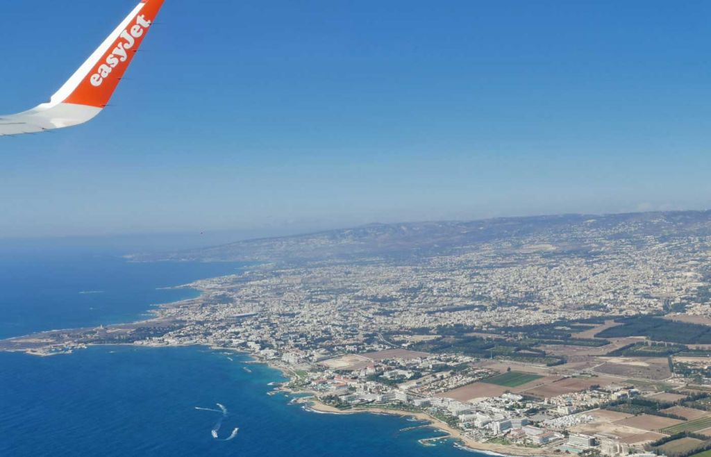 Travelling during the pandemic to  Cyprus - Aeroplane wing view