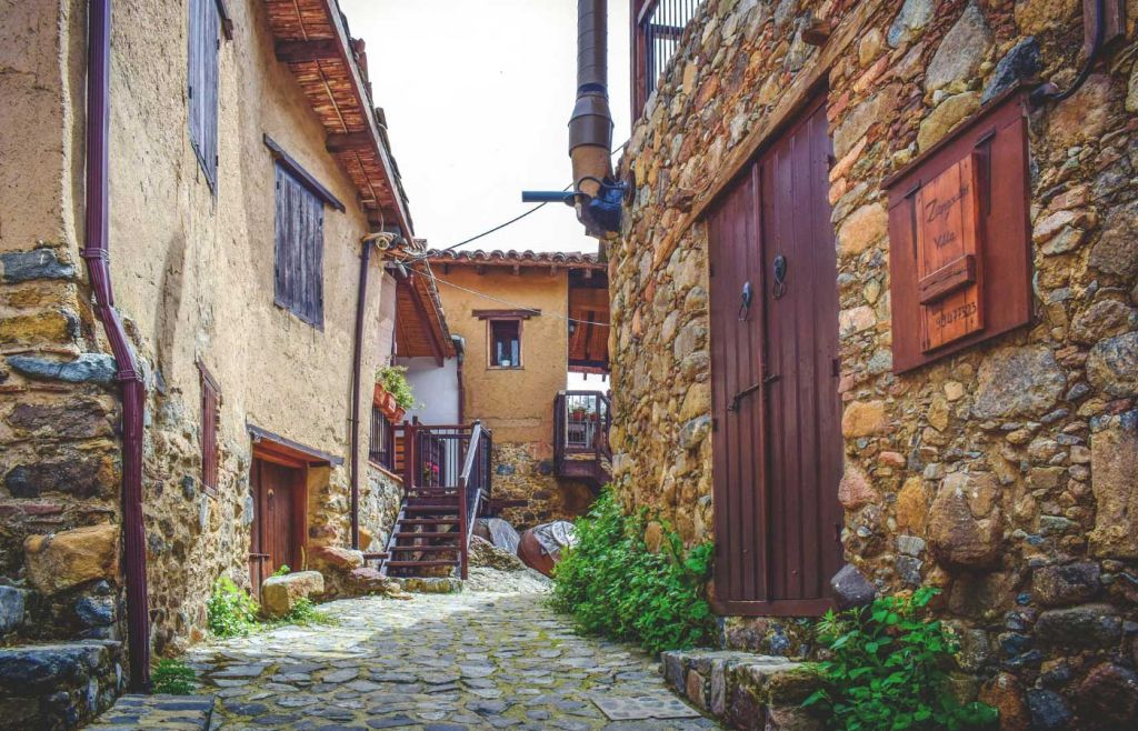 Quaint village streets in the Troodos Mountains