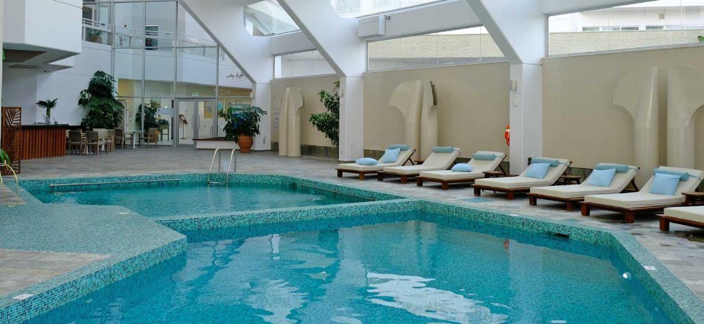 Leonardo Plaza Cypria Maris Hotel indoor pool area - top banner