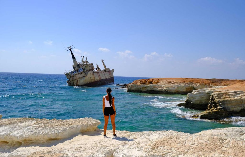 Where to go on holiday in 2021 - Overlooking a shipwreck in Cyprus