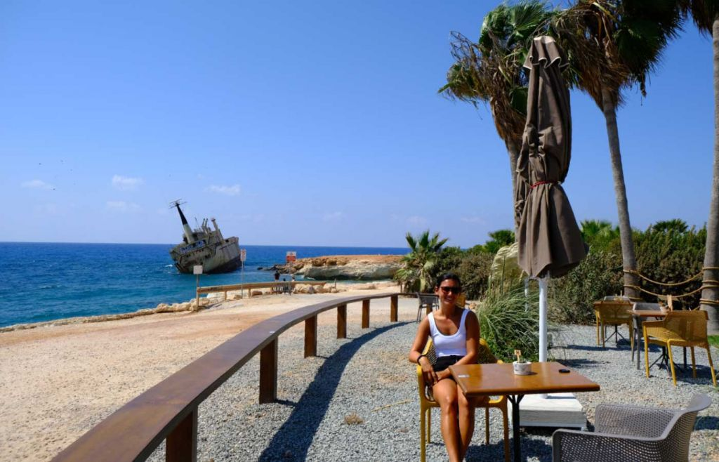 Enjoying lunch at Oniro by the Sea restaurant in Paphos