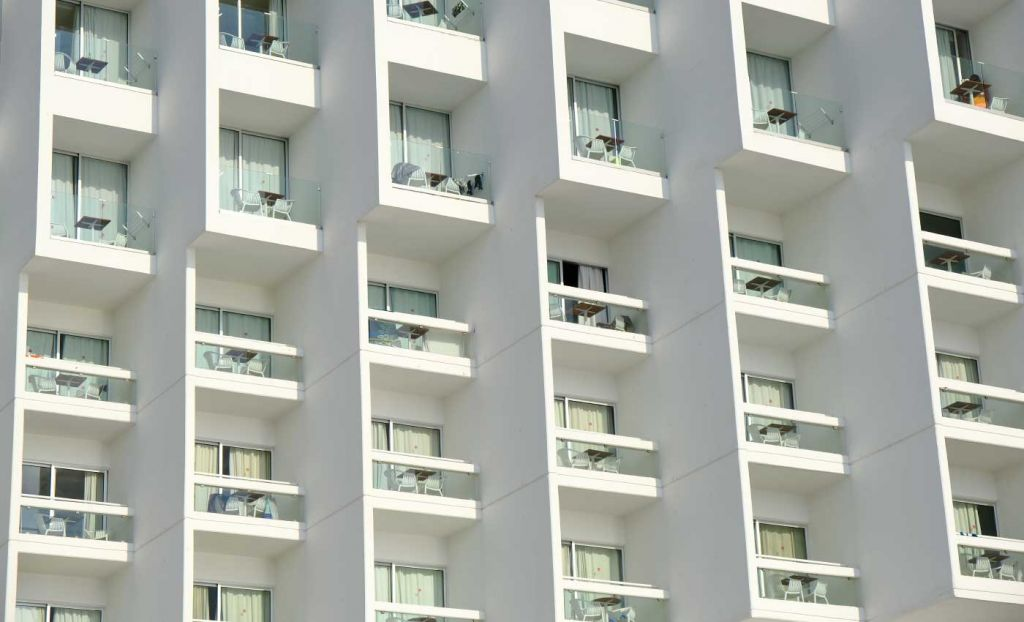 Outside room balconies