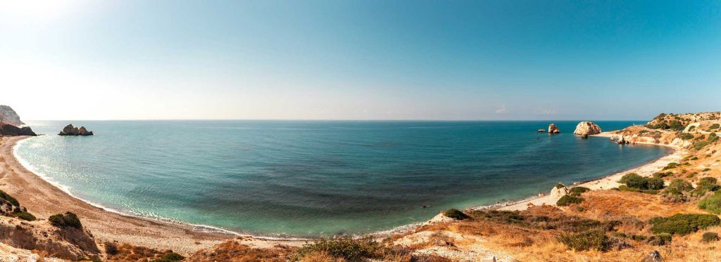 Our complete Paphos travel guide - Shows Petra Tou Romiou beach
