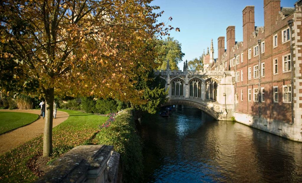 River view of the Bridge of Sighs