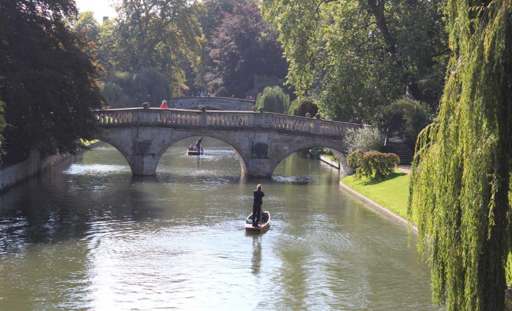 Top things to do in Cambridge - Shows a man navigating a punt along the river