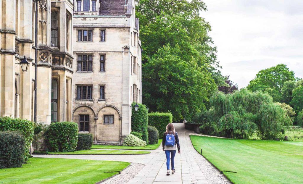 University student on campus