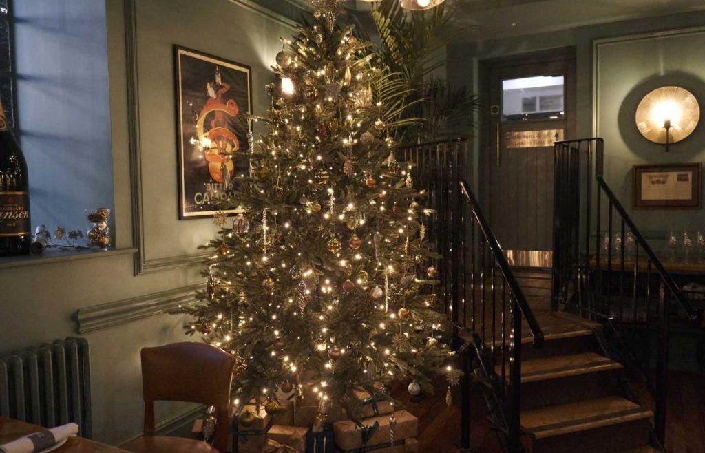 Christmas tree inside the Bistro