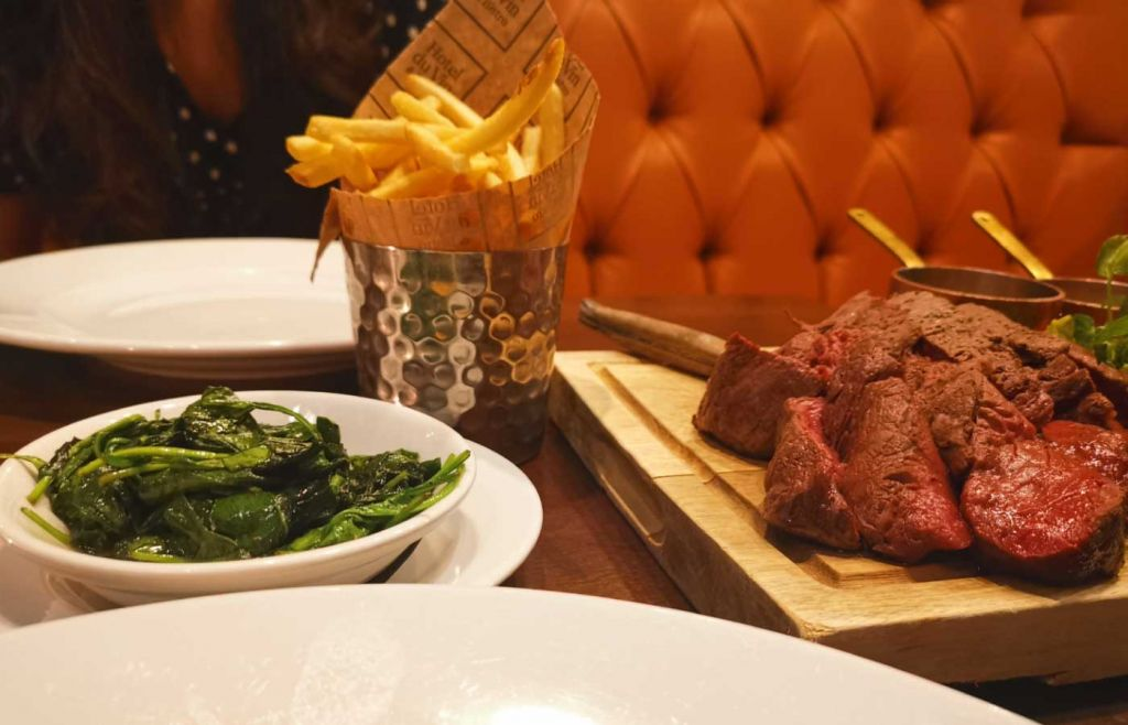 Chateaubriand meal for two in the Bistro - Hotel Du Vin Henley