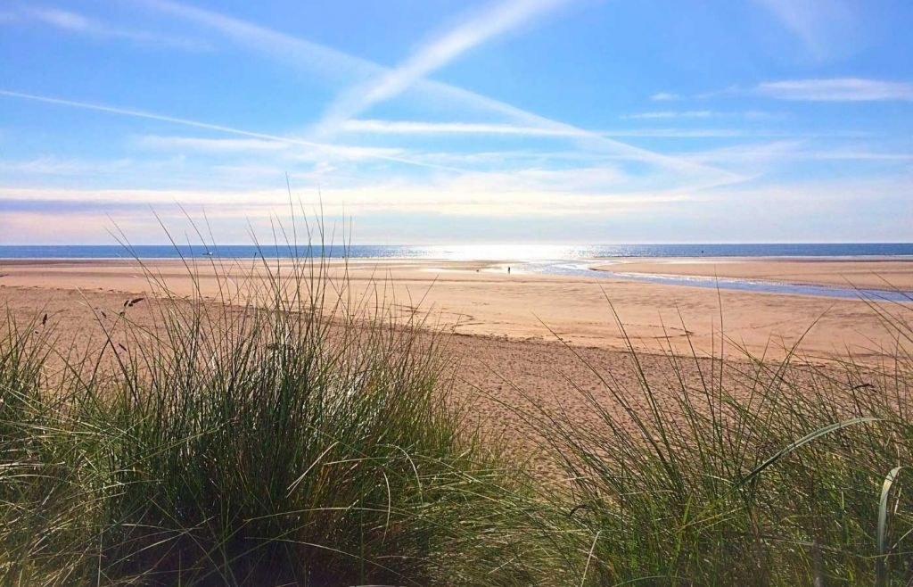 A view of Alnmouth Beach in Northumberland