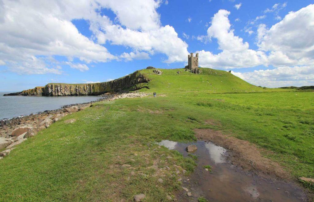 Scenic view of Dunstanburgh Castle