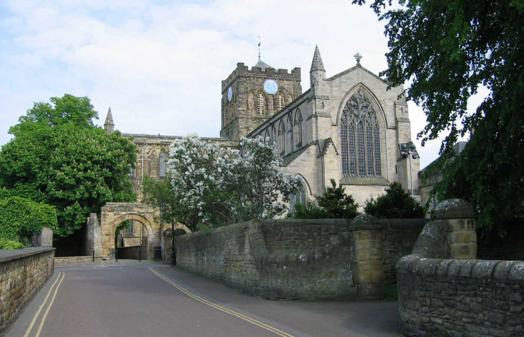 Hexham Cathedral and town centre