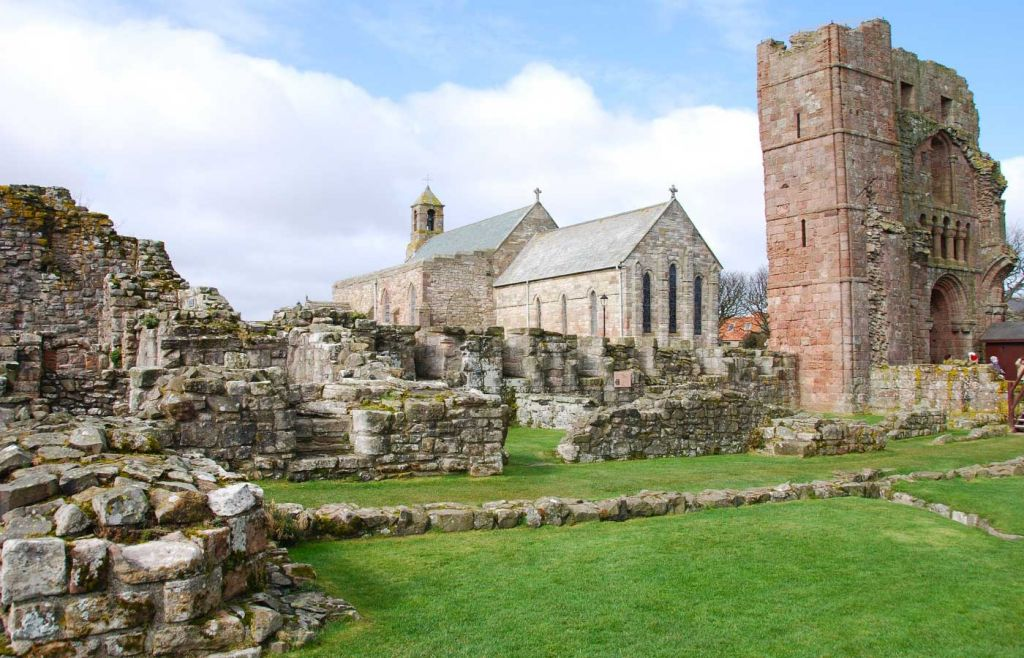 The historic abbey on Holy Island