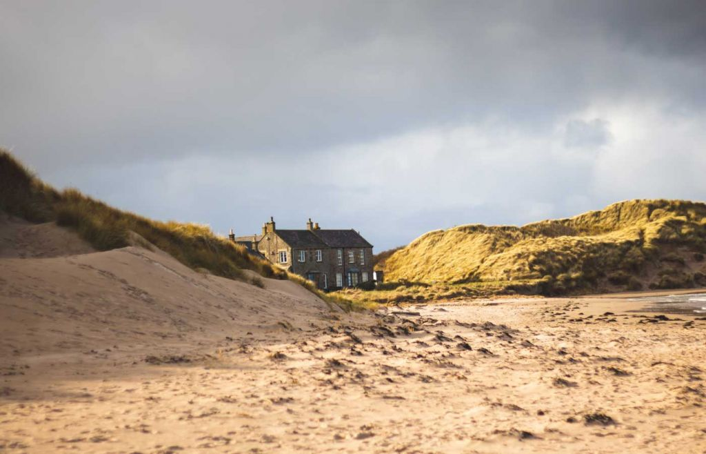 Best places to visit in Northumberland - View of the beach at Seahouses