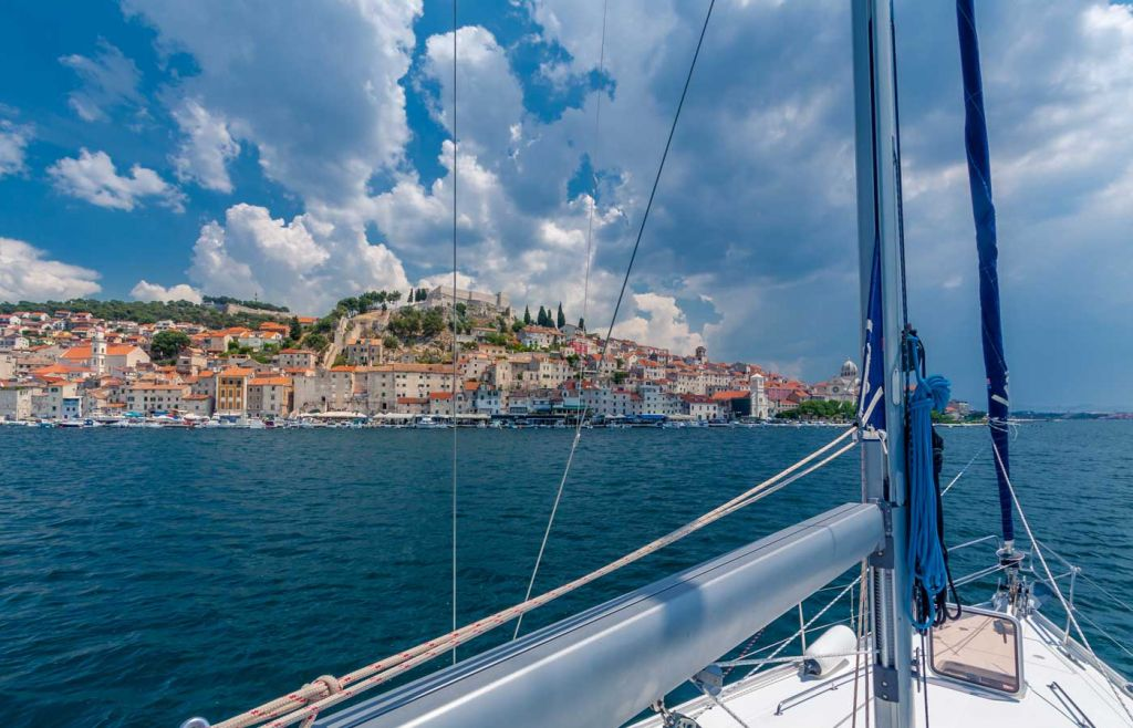 Sailing on a yacht in Croatia