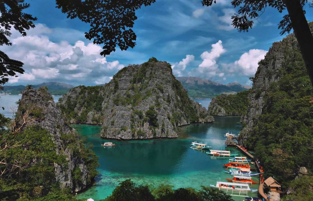Palawan Island limestone cliffs