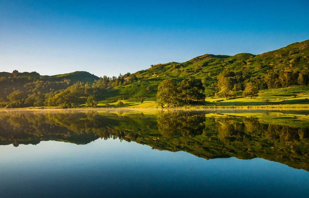 Scenic view of Rydal Water