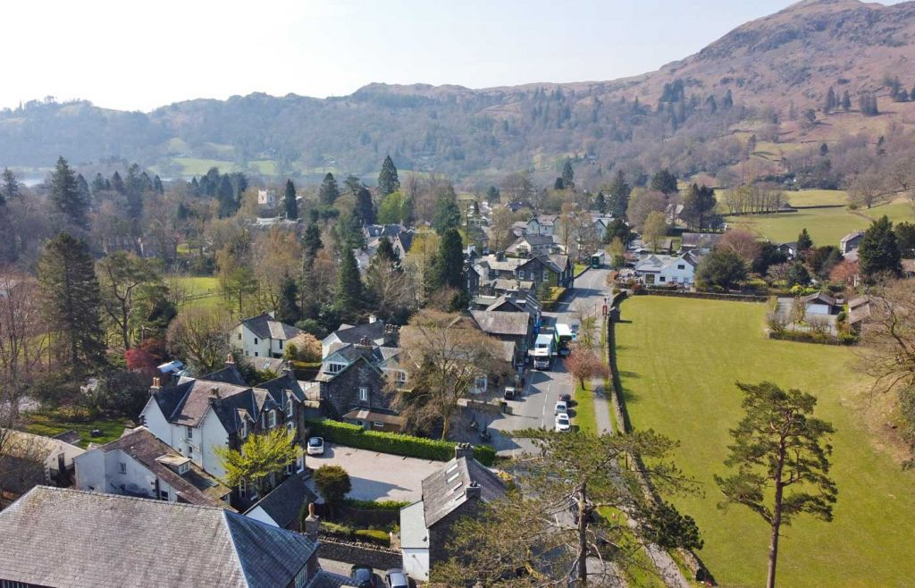 Grasmere town from above - Best Lake District attractions