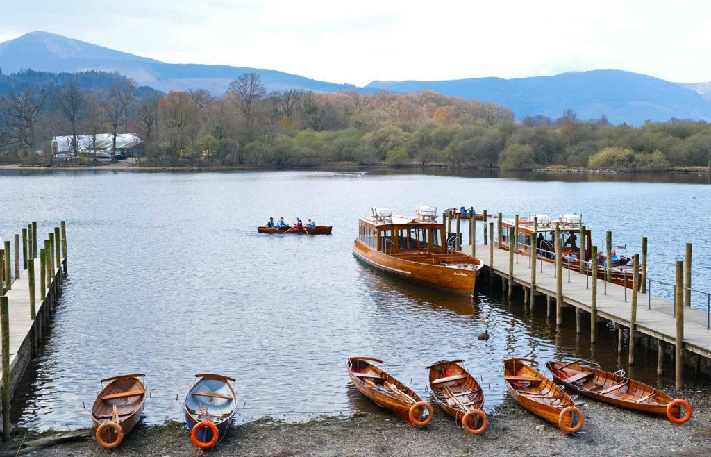Things to do in the Lake District - Boats on the shore of Derwentwater