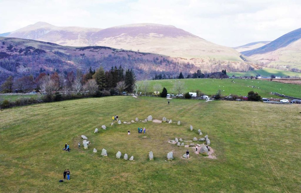 Best places to visit in the Lake District - Castle Rigg Stone Circle from above
