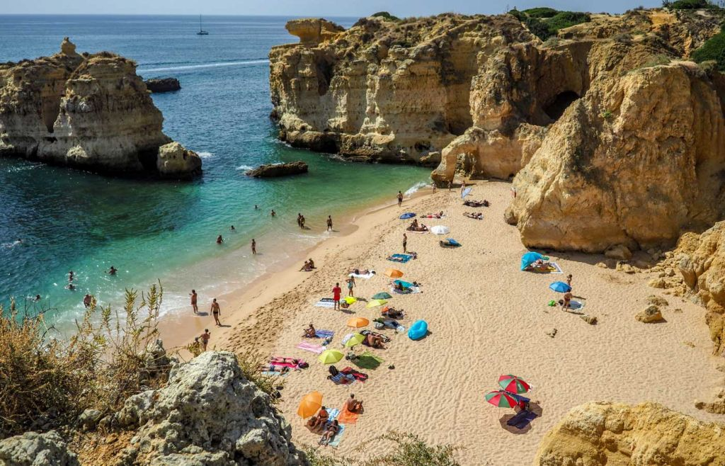 Algarve car hire - Shows a beach in Lagos