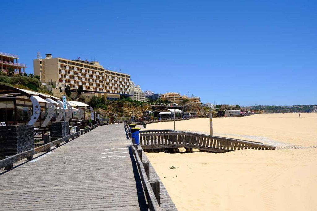 Best places to visit in the Algarve - Praia da Rocha boardwalk