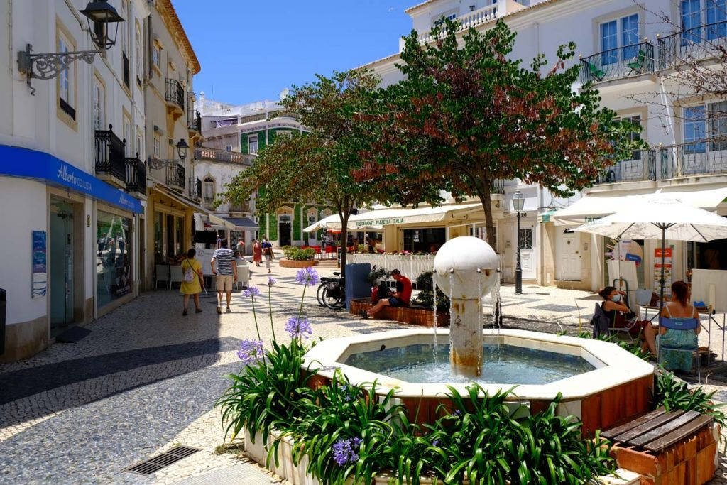 Best places to visit in the Algarve - Quaint fountain in Lagos town