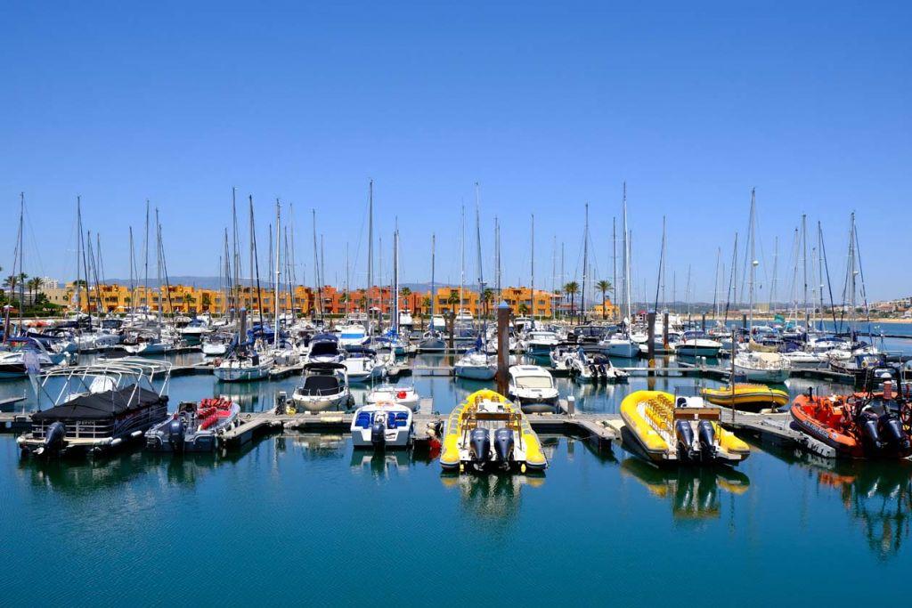 Shows boats at Portimao marina