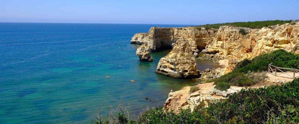 Best places to visit in the Algarve - Shows Algarve coastline