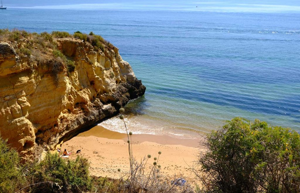 Secluded beach cove in Lagos