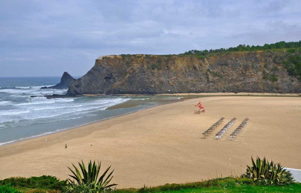 Empty beach at Odeceixe - Best Algarve beaches