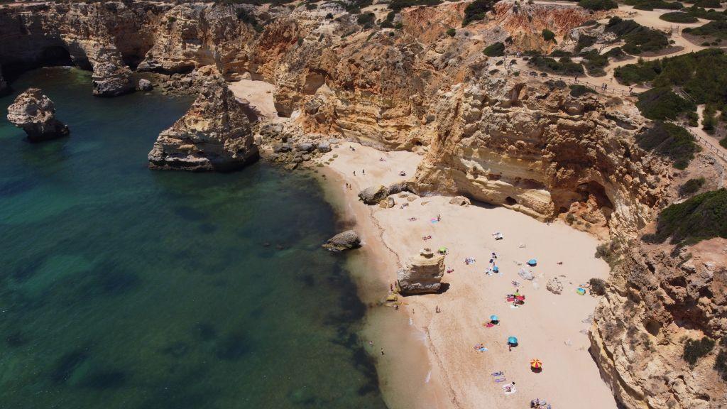 Top Algarve beaches - Drone shot of Praia da Marinha