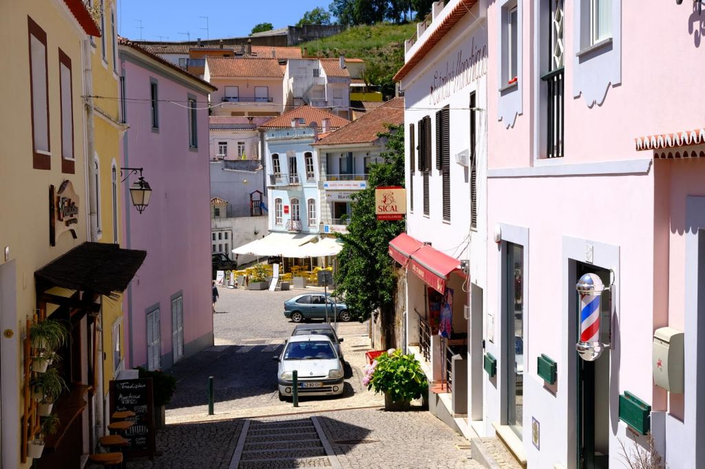The best Monchique hotels - Shows a colourful town street