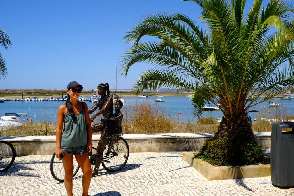 Best things to do in Alvor - Susie standing by the promenade